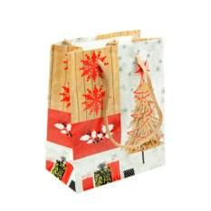 Бумажно-ламинированный пакет Новогодний (11х14 см) с елкой