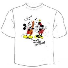 Детская футболка Микки и Минни Маус. Песенка