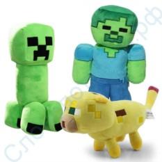 Набор мягких игрушек Майнкрафт
