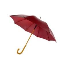 Полуавтоматический зонт-трость «Радуга» бордового цвета