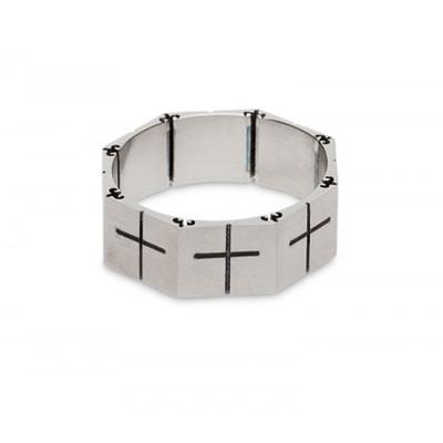Кольцо титан «Гайка-крест»