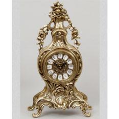 Часы настольные из бронзы «С цветами» Virtus