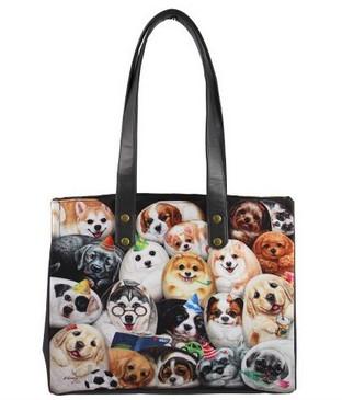 Женская сумка с изображениями собачек «Собачки Генри»