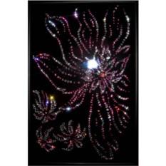 Картина с кристаллами Swarovski Японский цветок