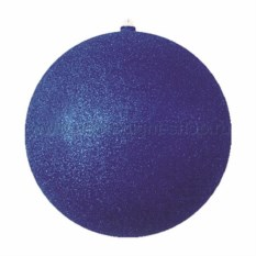 Елочная игрушка Шар с блестками синего цвета