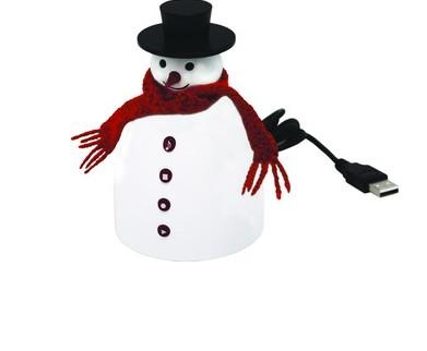 Музыкальный снеговик с диктофоном