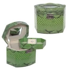 Зеленая шкатулка, размер 17х11х13,5 см