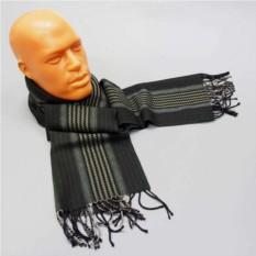 Мужской шерстяной шарф в зеленых оттенках Baumler