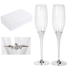 Фужеры для шампанского Crystal, 2 штуки
