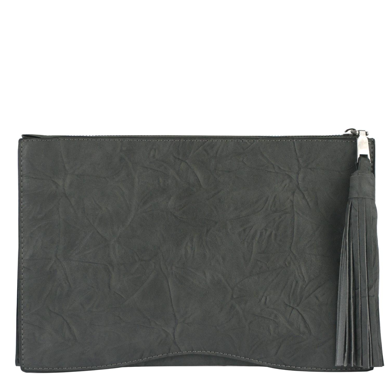 cb35279fa5a5 Серый клатч с кисточкой | Клатчи | купить в Подарки.ру