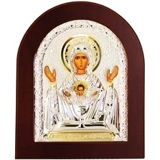 Неупиваемая чаша. Икона Божьей Матери в серебряном окладе.