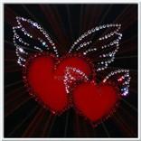 """Предпросмотр схемы вышивки  """"Валентинка """".  Валентинка, сердце, любовь, крылья, подушка..."""