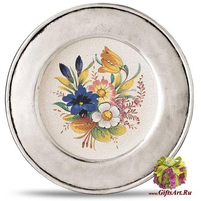 Настенная тарелка из олова LOMBARDIA Cosi Tabellini