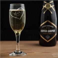 Бокал для шампанского Сердце
