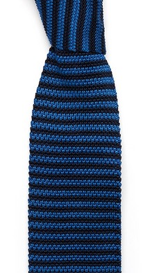 Тёмно-синий в полоску галстук Sozzi вязаный из шёлка