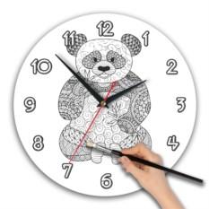 Часы-раскраска Панда