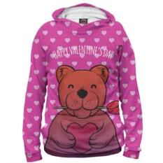 Женское худи Медвежонок с сердечком