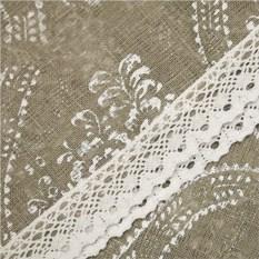 Наскатерник (цвет: серый, сетка-лен, 110х110 см)