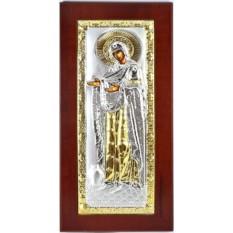 Икона Божьей Матери Геронтиса в серебряном окладе.
