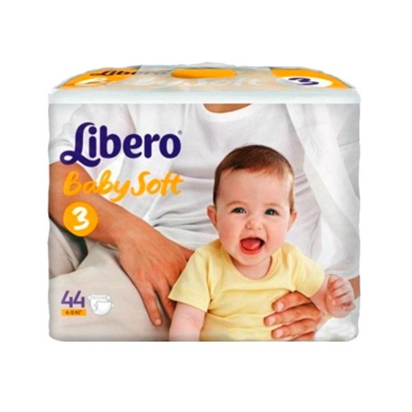 Подгузники Libero Baby Soft Midi (4-9 кг) 44 шт.