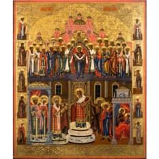 Копия старинной иконы на доске Покров Пресвятой Богородицы