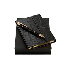 Набор Ungaro, дизайнерский блокнот и шариковая ручка