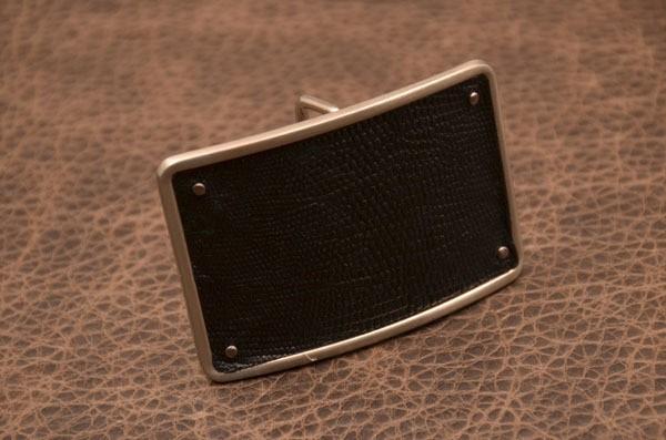 Пряжка для ремня с кожаной вставкой G.Design (черны)