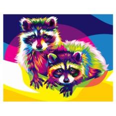 Картины по номерам Артвентура «Радужные еноты»
