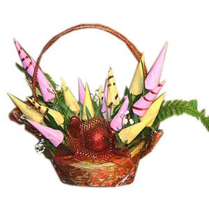 Букет из конфет «Новогодние цветы»