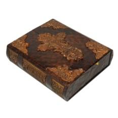 Библия (в коробе иконостас-складень с деревянными вставками)