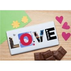 Шоколадная открытка Love