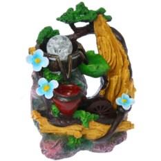 Настольный декоративный фонтан с подсветкой Сияние