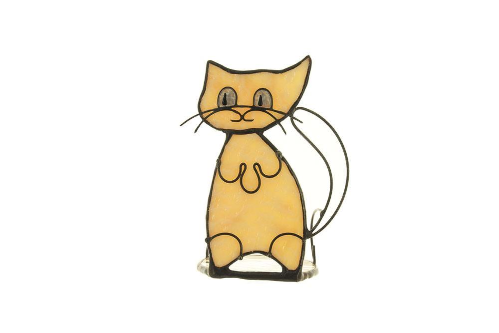 Подсвечник «Белый кот»