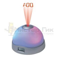 Круглый будильник-проектор времени Night Light