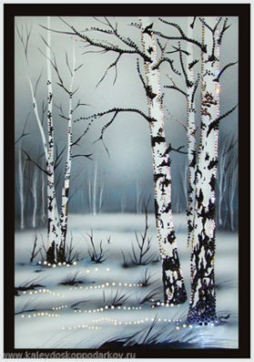 Картина с кристаллами Swarovski Русские березки