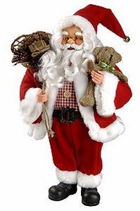 Игрушка Санта с мишкой, 80 см.
