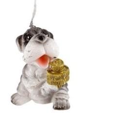 Декоративная свеча Собачка с монетами