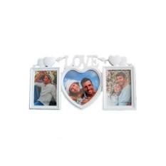 Настенный коллаж-фоторамка на 3 фото Love