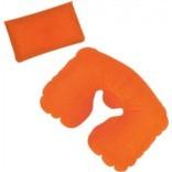 Оранжевая надувная дорожная подушка в футляре