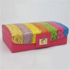 Разноцветная шкатулка, размер 25х15,2х11см