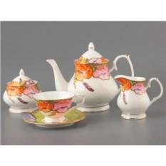 Чайный сервиз на 6 персон Осенний букет