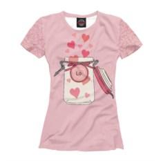 Женская футболка Формула любви