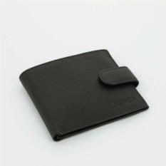 Черное портмоне S.Quire с клапаном на кнопке