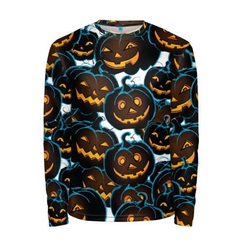 Мужской 3D лонгслив Happy Halloween