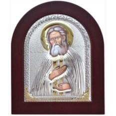 Икона в серебряном окладе Серафим Саровский