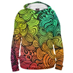 Женское худи Rainbow Doodle