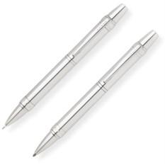 Серебристый набор Cross Nile: ручка и карандаш 0.7мм