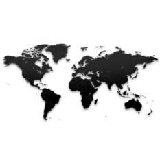 Черный реалистичный пазл мира True World Puzzle Black