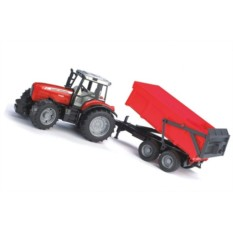 Трактор с прицепом Massey ferguson 7480