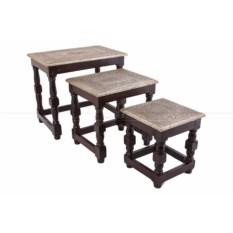 Набор из трех стол-табуретов
